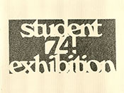 1974 Student Art Exhibition