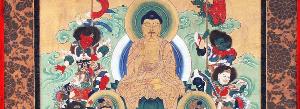 Buddhist Temple Hanging (Thangka), 19th century (detail), Gift of Nancy J. Powell