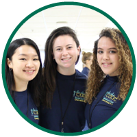 Fiona Liang, Kasey Hill, Caitlin Hall of Girls Who Code
