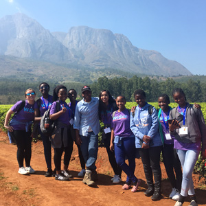 Morgan Wood, 2018 Newman Civic Fellow WiSci STEAM Girls Camp in Thyolo, Malawi