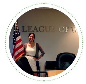 Caludia Maisch at the League of Women Internship Site