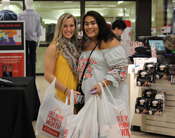 Students shopping at JCP Suit Up event