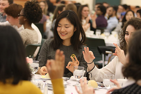 Students learn etiquette at Fleishman Center Event