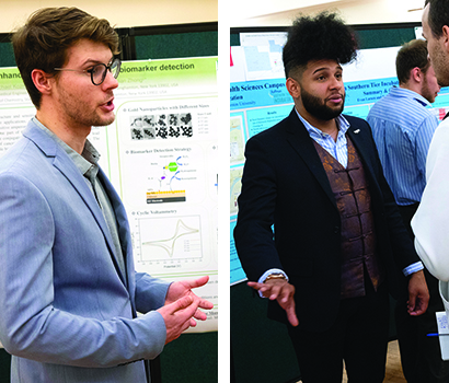 Michael Kozma '18 and Joshua Gonzalez '18, pictured here during the 2018 Research Days