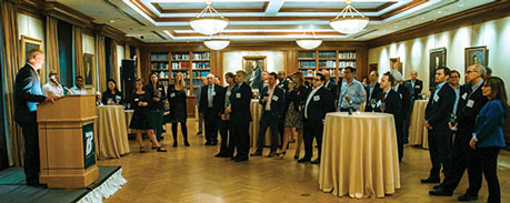 Donor recognition reception at the Princeton Club of New York