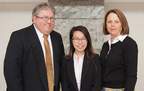Martin and Susan Klucka with scholarship recipient Vivian Lee