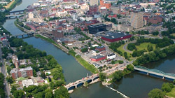 Aerial photograph of the city of Binghamton