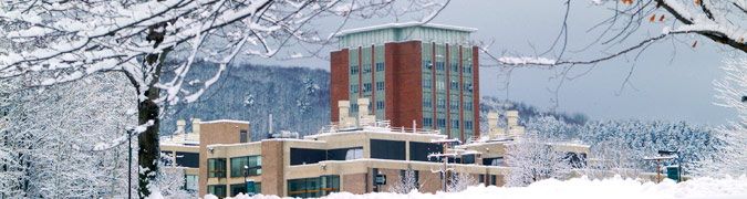 snow covered campus