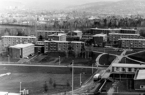 1961 - The campus moved across the Susquehanna River to Vestal. Growing enrollment and a reputation for excellence led to the selection of Harpur College as one of four doctorate-granting University Centers in the state system.