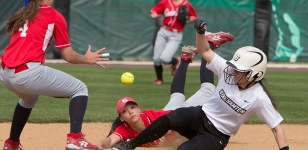 Gabby Bracchi Slides Safe to Second
