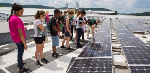 Touring Solar Panel Array