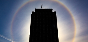 Sundog Surrounds Bartle Tower