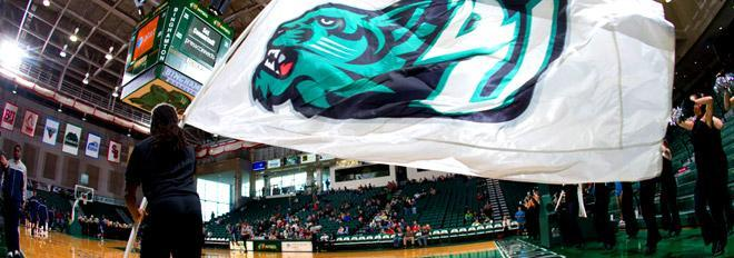 Bearcats flag in the Events Center