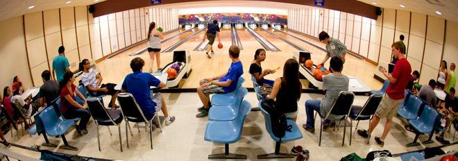 University bowling alley