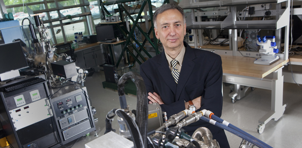 Baghat Sammakia, seen here at the Analytical and Diagnostics Laboratory (ADL) in the Innovative Technologies Complex, is the new interim vice president for research.