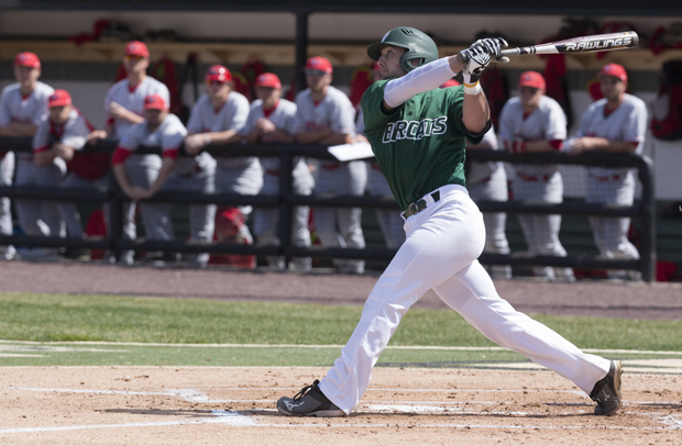 Junior first baseman Brendan Skidmore hit six home runs and drove in 34 for the Bearcats in 2015.