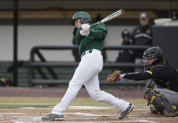 Senior Zach Blanden had four of Binghamton's 16 hits in an 18-15 victory over Canisius on April 8.