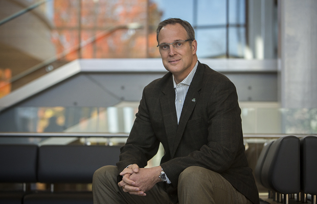 Jim Broschart, MBA '92, is in his first semester as vice president for advancement.