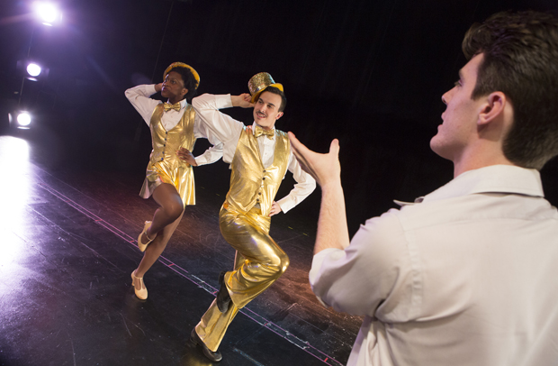 Imani Williams, left, Brenden Gregory and Tyler Downey, right, are among the Binghamton University featured in the Theatre Department's production of