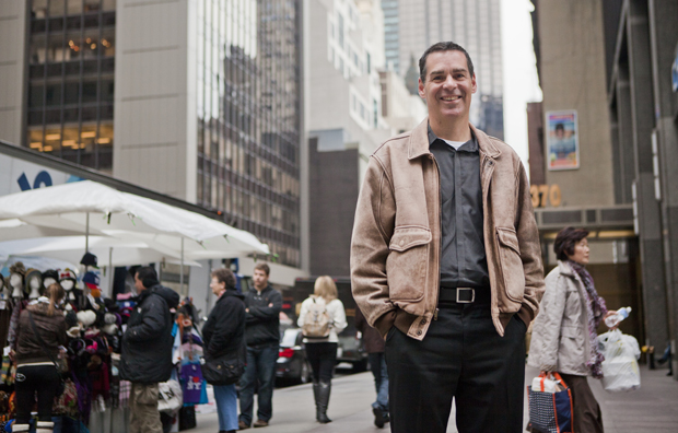 David Campbell, associate professor of public administration, is seen in New York City. Campbell, who was working in the city on 9/11, has examined non-profit groups that developed after the attacks.