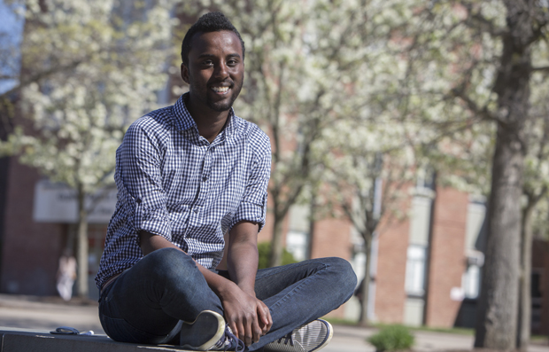 Delmar Dualeh started the Binghamton University chapter of SHADES, a student group that supports students of color who are homosexual, bisexual or transgender. He also has been a tour guide, resident assistant and REACH peer.