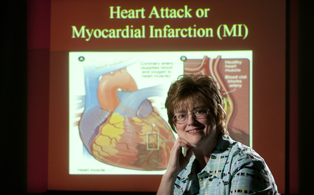 Pamela Stewart Fahs, professor and Decker Chair in Rural Nursing, is working to develop a program to educate women about heart attack symptoms.