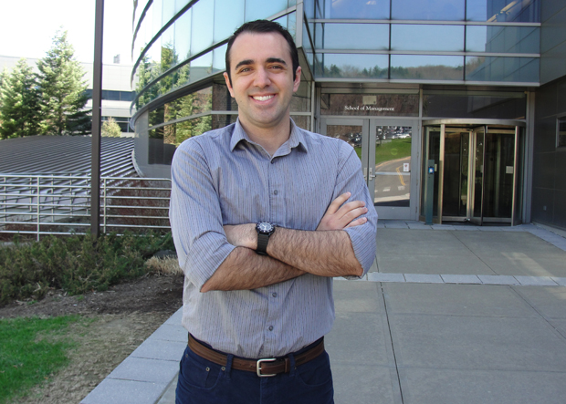 School of Management student Peter Fiduccia will receive his MBA this month.