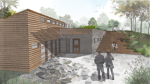 The Living Building at Nuthatch Hollow takes shape
