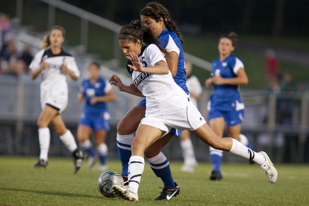 Sarah Furminger scored the game-winning goal in overtime against Siena on Sept. 7.