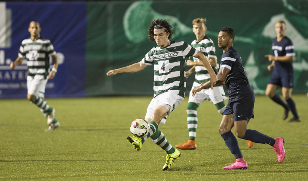 Zach Galluzzo scored both of Binghamton's goal in a 2-1 home victory over Siena on Sept. 19.