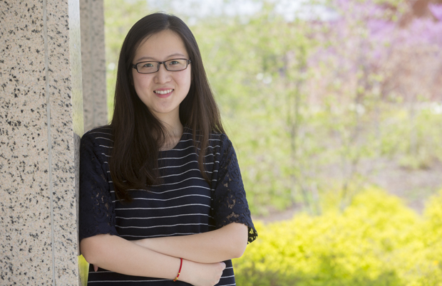 Zhen (Jane) Gao, a graduate student from Xi'an, China, has benefited from campus events such as the International Coffee Hour.