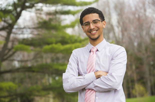 Luis Gonzalez, a geography major in Harpur College, will pursue a master's degree in city and regional planning at Rutgers University in the fall.
