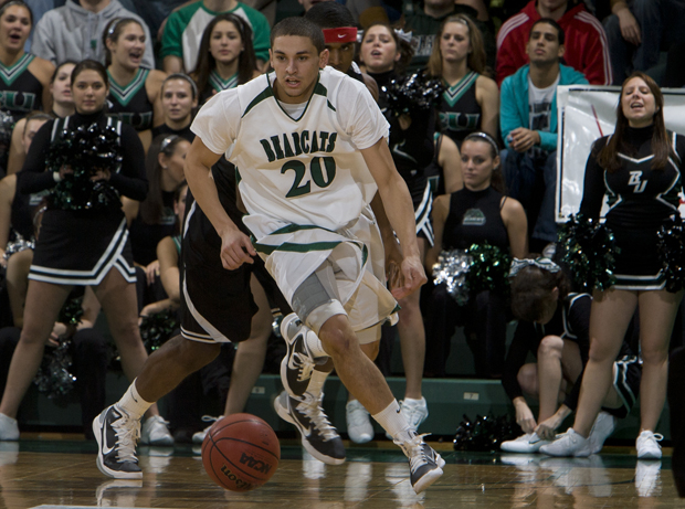Sophomore guard Jimmy Gray's only basket of the game led the Bearcats to a 70-69 victory over Manhattan on Dec. 11.