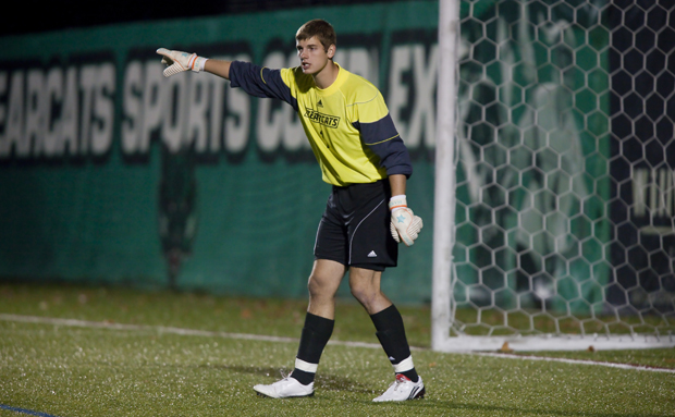 Chris Hayen recorded four shutouts as a redshirt freshman and was named America East Rookie of the Week last October.
