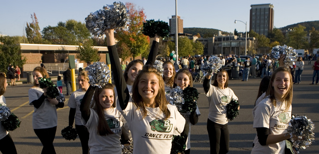 A tailgate and parade are part of the annual Homecoming festivities.