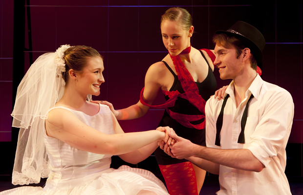 Jenna Thomsen, left, Nicole Dlug and Jared Douglas are among the performers in the dance production