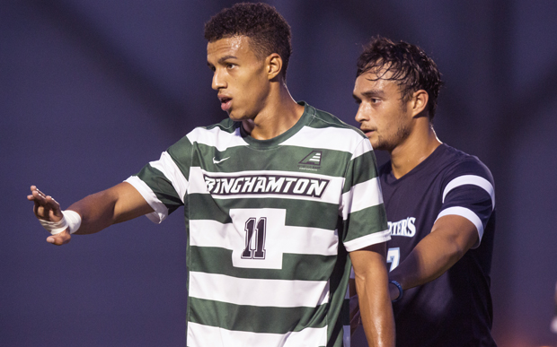 Logan Roberts scored his first goal of the season during Binghamton's 2-1 victory over Vermont on Oct. 3.