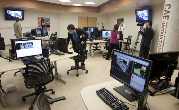 A view of the new, 1,100 square-foot Computer-Aided Engineering Instructional Laboratory located in the Engineering Building.