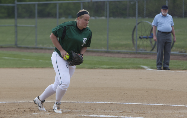 Junior Demi Laney pitched her third shutout of the season on March 31, as the Bearcats beat Boston University, 8-0.