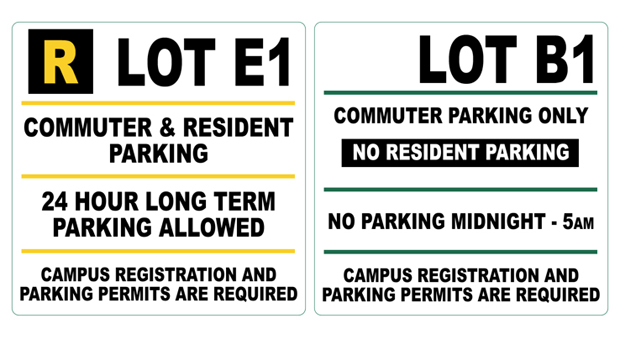Campus parking lot designations will be simplified this fall. Commuter lots will need to be vacant from midnight to 5 a.m.
