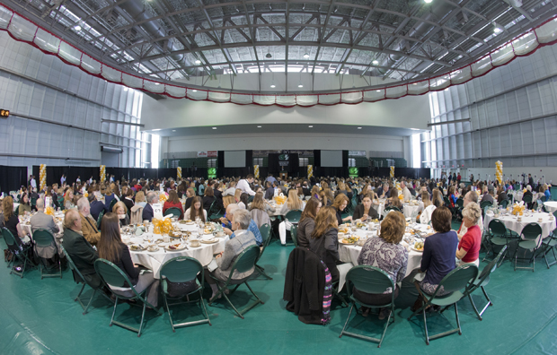 More than 500 guests attended the 2013 Celebrating Women's Athletics Luncheon in the Events Center. The 2014 event will take place Feb. 3 and feature softball pitcher Jennie Finch.