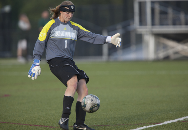 Sophomore keeper Carrie Martin continues to play well for the Bearcats: She posted her fourth shutout of the season in a tie with Stony Brook.