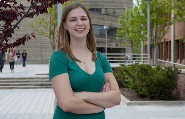 Sarah Mikulski is a McFarland Johnson Scholar and the top graduating senior in the undergraduate mechanical engineering program.