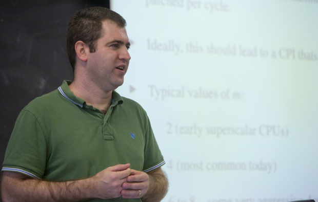 Timothy Normand Miller, who recently received an NSF CAREER grant, joined the Binghamton University faculty in 2012.