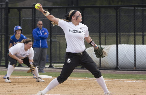 Sarah Miller's four-hit shutout helped the Bearcats sweep UMBC over the weekend.