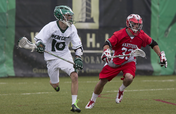 Tucker Nelson and the men's lacrosse team will open the 2014 season at Sacred Heart.