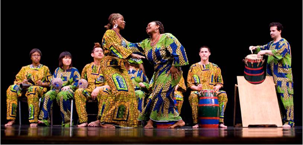 The Nukporfe African Dance and Drumming Ensemble will perform Thursday, March 29, at the Chamber Hall.