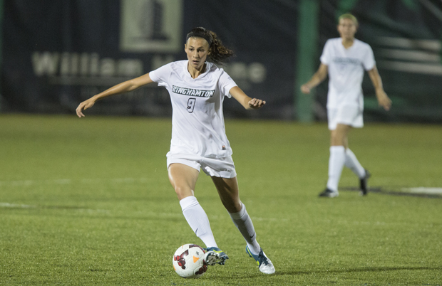 Senior Emily Nuss scored two goals in the Bearcats' 4-0 victory over UMass Lowell on Oct. 5.