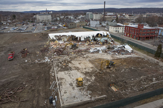 A view of the future site of the School of Pharmacy and Pharmaceutical Sciences in Johnson City.