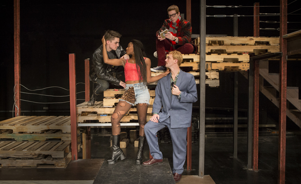 Imani Williams, Alexander Gill-Pelchar, Matt Edlind, top, and Rob Tendy, right, are among the stars in the Theatre Department's production of